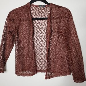 Brown embroidered blazer